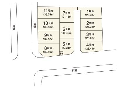 岸和田市 尾生久米田【全11区画】区画図