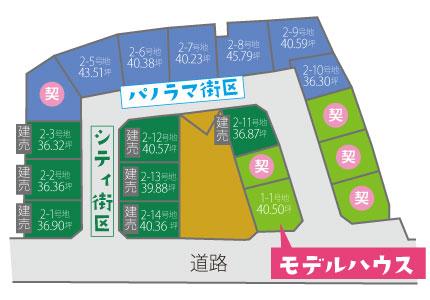七山東【全19区画】区画図