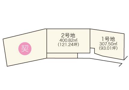 泉佐野市 南泉ヶ丘【全3区画】区画図