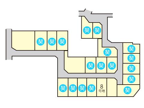 iE LAB大町【モデルハウス】区画図