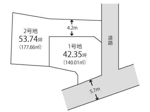 内田町【限定2区画】区画図