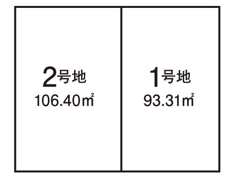 岸和田市 上町【全2区画】区画図