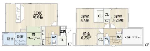 東大路町【モデルハウス】区画図