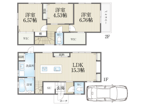 岡山町【モデルハウス】区画図