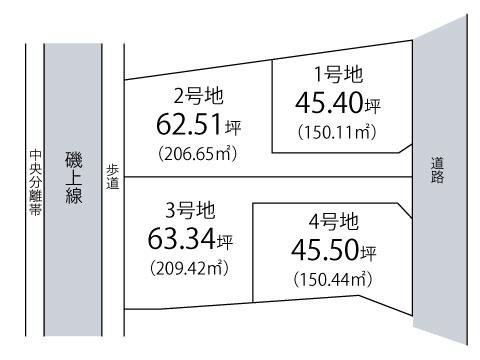積川町【全4区画】区画図