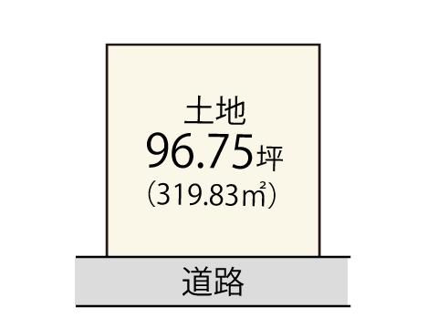 楠ヶ丘【限定1区画】区画図