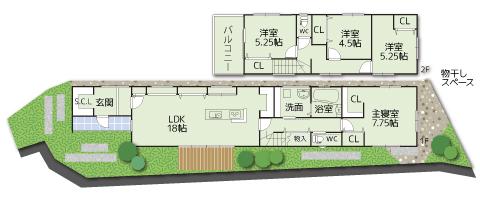 南泉ヶ丘【モデルハウス】区画図