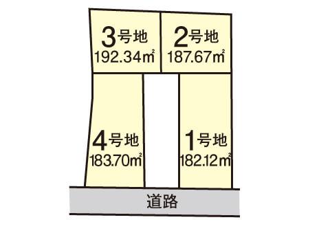 尾生町【全4区画】区画図