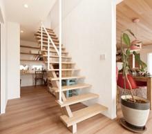 くるくる廻れる家事導線と家事スペースが 便利です。