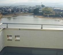 3階スカイテラスからの景色は最高です。暖かい日はお洗濯はもちろん、日向ぼっこで落ち着ける場所です。