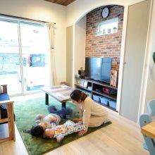 空気を汚さない床暖房は、心地よい温かさで子どもたちも大のお気に入り。