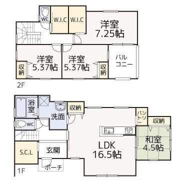 のぞみ野【新築建売】区画図