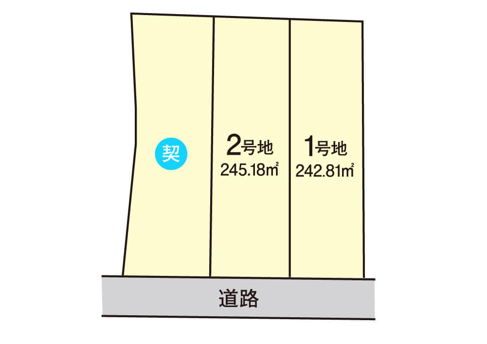尾生町【全3区画】区画図