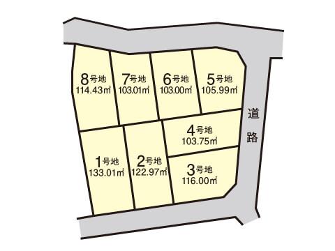 浦田町【全8区画】区画図