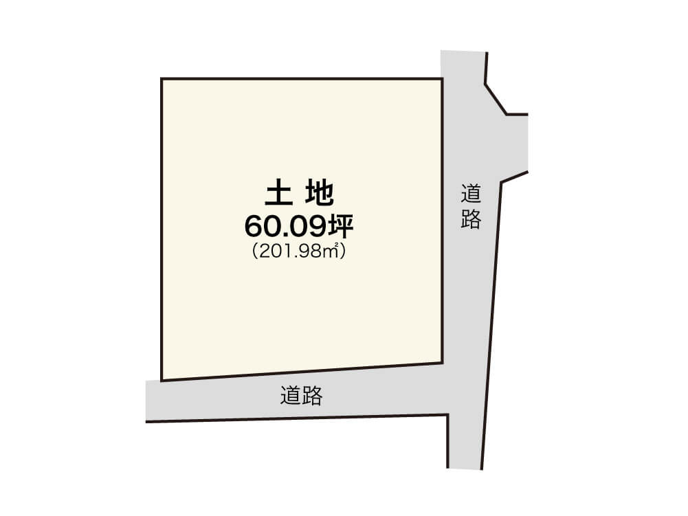泉佐野市新町1丁目【1区画】区画図