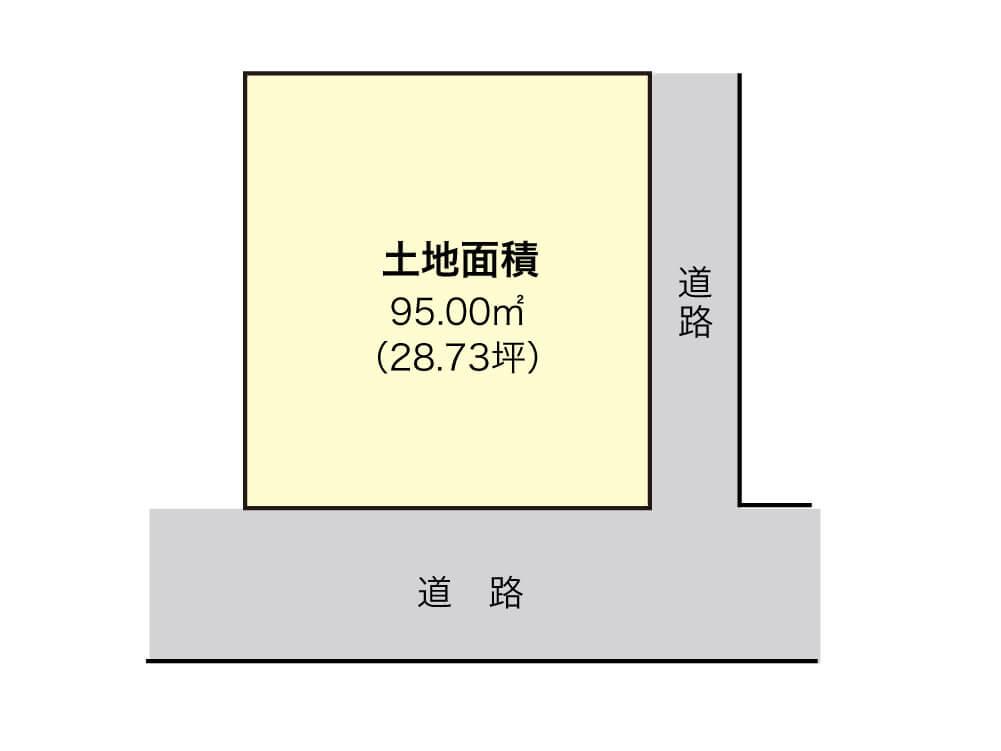 泉佐野市春日町【1区画】区画図