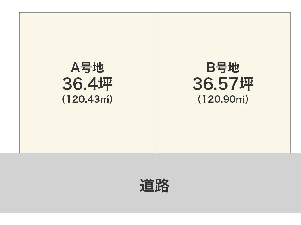和泉市万町【限定2区画】区画図